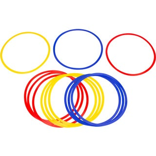 Trademark Innovations 18-inch Diameter Multicolor Speed and Agility Training Rings (Set of 12)