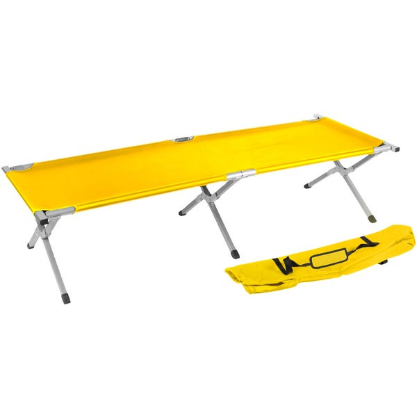 Trademark Innovations Portable Folding Camping Bed and Cot Portable Bed 260-pounds Capacity Yellow