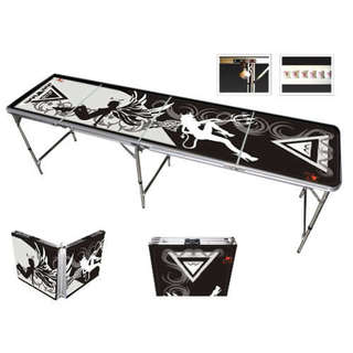 Beer Pong Table 8 Feet with Bottle Opener Ball Rack and 6 Pong Balls 15579344