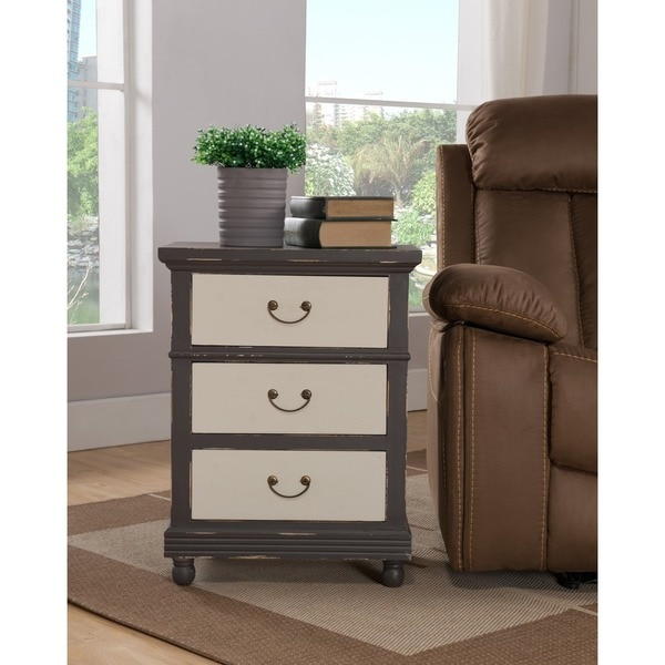 Treasure Trove Accents Kilby Chocolate and Ivory Three Drawer Chest