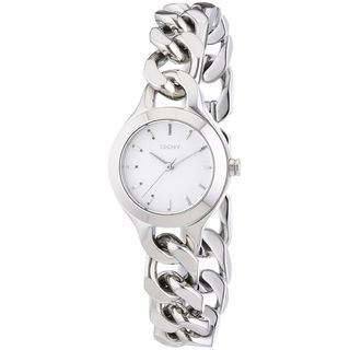 DKNY Women's NY2212 'Chambers' Silver Stainless steel Watch