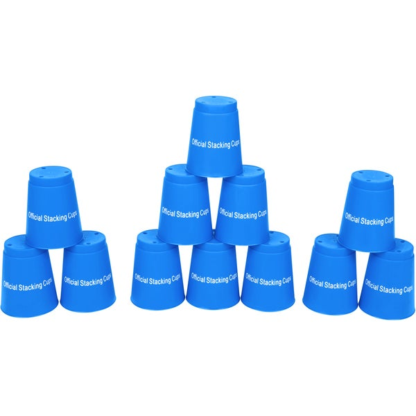 Speed Stack Cups Set of 12 Sport Stacking Cups (Blue)