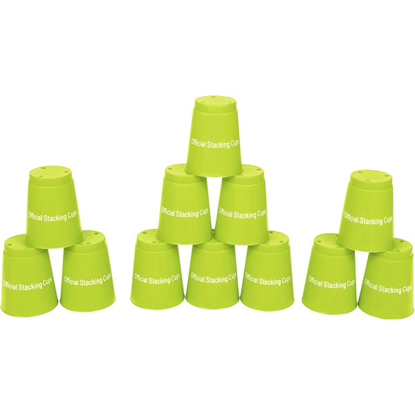 Quick Stack Cups Green Speed Training Sports Stacking Cups (Set of 12) 15579400