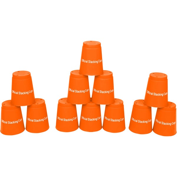 Orange Quick Stack Cups Speed Training Sports Stacking Cups (Set of 12) 15579402