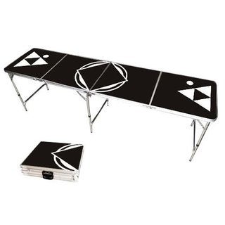 Black 8 ft. Beer Pong Table