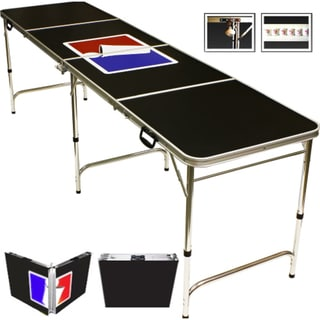 Sports Official Beer Pong Table 8 Feet with Bottle Opener Ball Rack and 6 Pong Balls