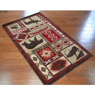 Rustic Lodge Bear Rug (3'3 x 5'3)