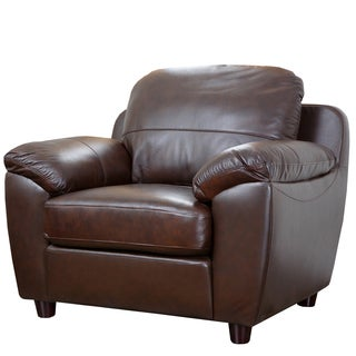 Cosmopolitan Brown Top Grain Leather Armchair
