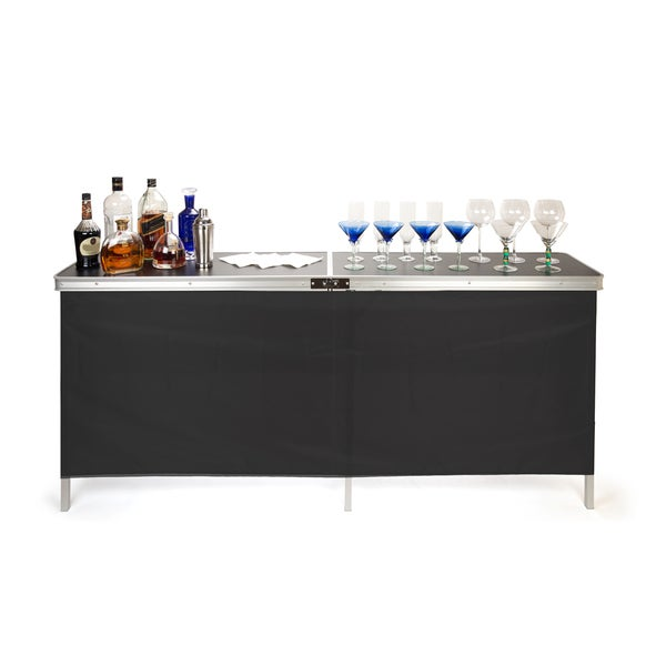 Trademark Innovations Portable Bar Table - Two Skirts and Carrying Case Included 15579569