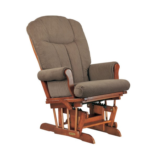 Shermag chablis station mocha glider recliner with lock for Addin chaise recliner