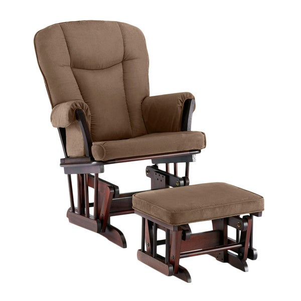 Shermag Natural Glider Recliner with Lock Mechanism