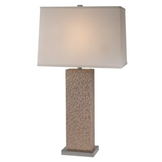 Merge Table Lamp - 29.5 Inch Sand Mosaic Chamtex