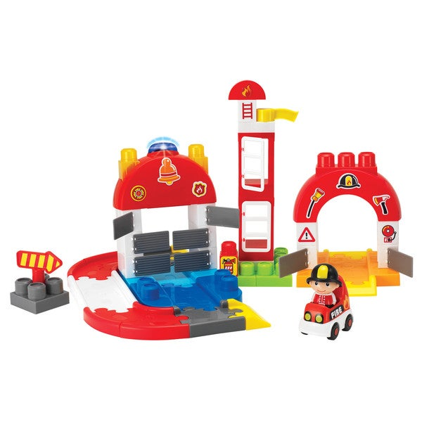Winfat 65-piece I-Builder Fire Station