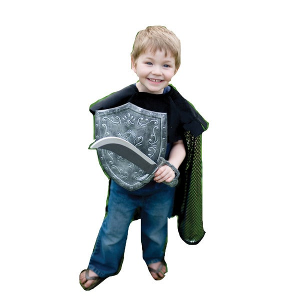 Creative Education Action Knight Cape Set with Sword and Shield