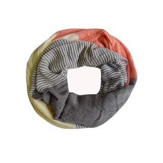 Peach Couture Orange Sassy in Stripes Vintage Style Infinity Loop Scarf