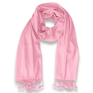 Peach Couture 100-percent Cashmere Baby Pink Shawl