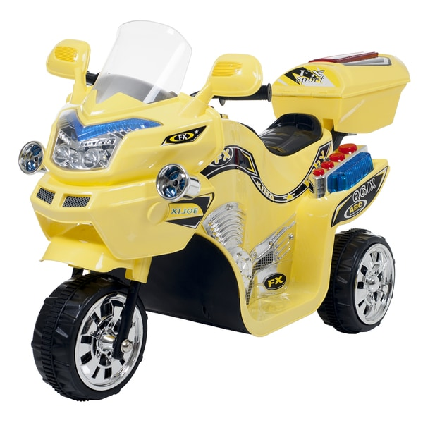 3 Wheel Motorcycle, Ride on Toy for Kids by Rockin' Rollers  Battery Powered Ride on Toys for Boys & Girls  - FX Yellow 15934378