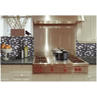 mosaic tile today 119 99 sale aspect stainless peel and stick tiles