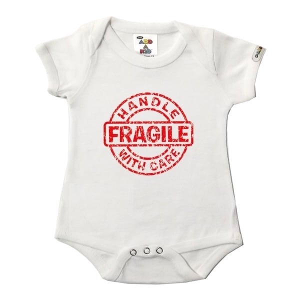 Fragile Handle With Care White Bodysuit
