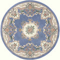 Heritage Blue Wool Area Rug (6' Round)