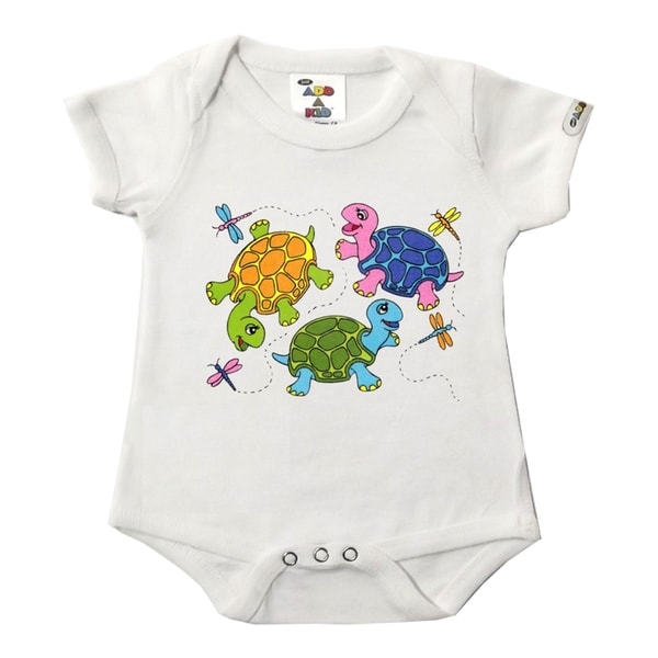 3 Turtles White Bodysuit