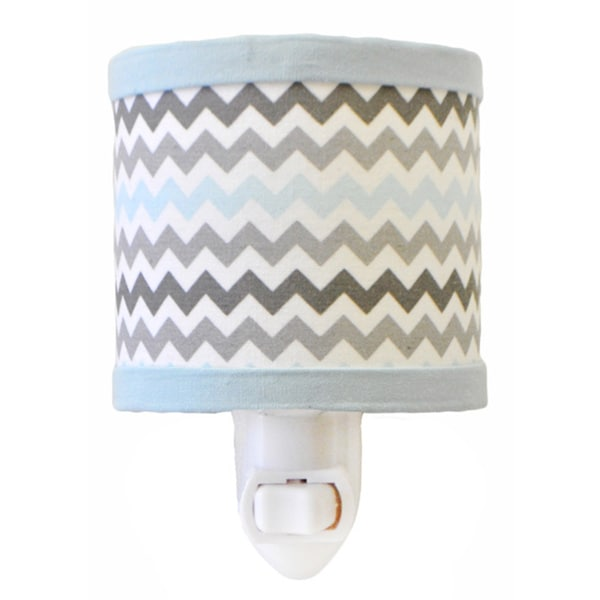My Baby Sam Chevron Baby Aqua Night Light