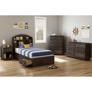 South Shore Brown 39-inch Morning Dew Twin Mates Bed
