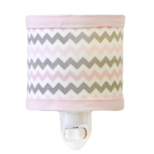 My Baby Sam Chevron Baby Pink Night Light