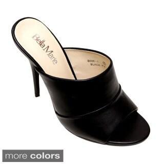Bellamarie BEBE-1 Women's Peep Toe Stiletto Heel Slip On Mule Dress Heels