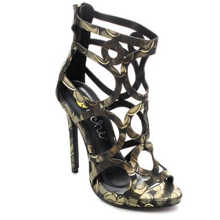 Machi GAYLE-2 Women Back Zip Hollow Out Stiletto High Heel