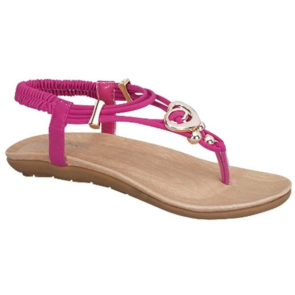 Link CALISTA-84K Girls' Metallic Deco Sling Back Sandals