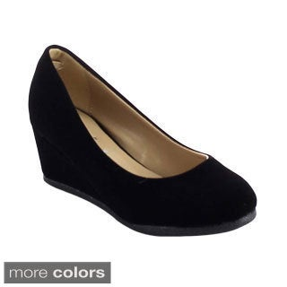 Link PATRICIA-02K Girls' Slip On Pumps Heel Platform Wedge Shoes