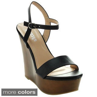 Puzzle RIO-14 Women's Open Toe Platform Strap Wedge
