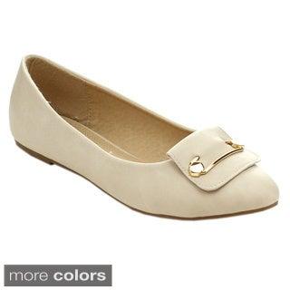 Machi MILKI-3 Women's Pointed Toe Slip On Comfort Ballet Flats