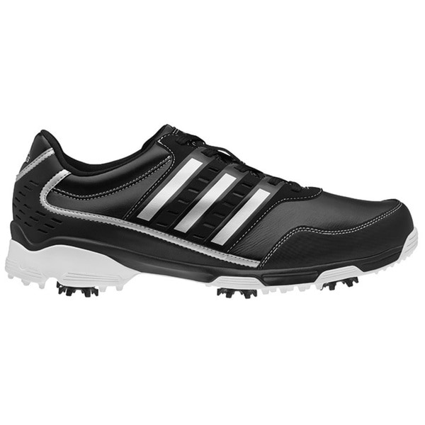 Adidas Men's Golflite Traxion Black/ Dark Metallic Silver Golf Shoes