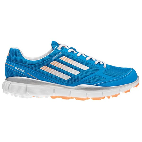 Adidas Women's Adizero Sport II Solar Blue/ Running White/ Glow Orange Golf Shoes