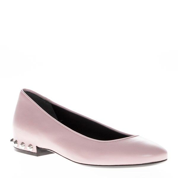 Balenciaga Women's Leather Studded Pink Flats 15582222