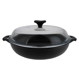 Cast Iron Lidded Braiser-1.8 quart, Black