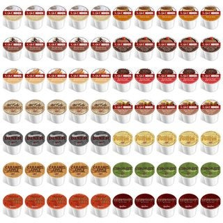 Cake Boss and Guy Fieri Single Serve Coffee K-cup Variety Sampler Pack (70 Count)
