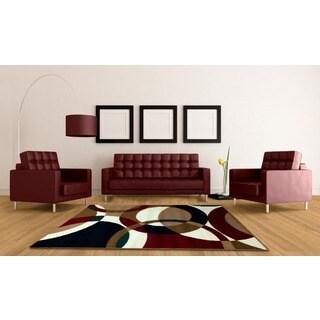 LYKE Home Contemporary Brown Area Rug (5' x 7')