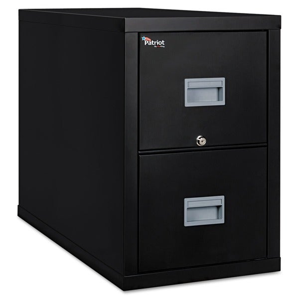 FireKing Patriot Insulated Black Two-Drawer Fire File