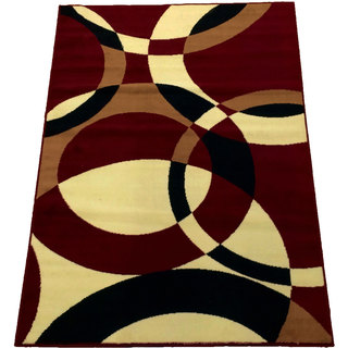 LYKE Home Red Area Rug (8' x 10')
