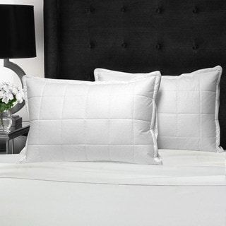 Swiss Comforts Cotton Quilted Down Alternative with Downproof Cover Pillow
