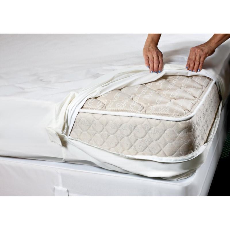 Overstock.com Complete Encaement Cotton top ZIpperd Bed Bug Waterproof Mattress Cover