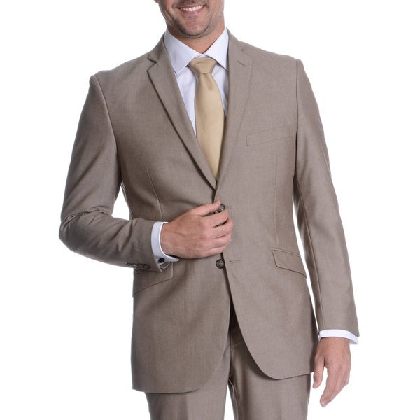 Adolfo Men's Suit Separate Slim Fit Jacket