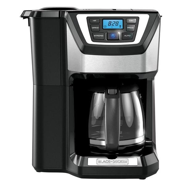 Black & Decker - Mill & Brew 12-Cup Coffeemaker - Black/Silver CM5000B