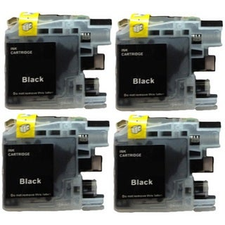 4-Pack Compatible Brother LC-101 LC101BK W MFCJ470DW MFCJ475DW MFCJ650DW MFCJ870DW MFCJ875DW MFCJ245 MFCJ285DW DCPJ152W Printers
