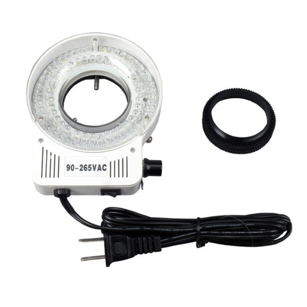 80 LED Microscope Compact Ring Light with Built-in Dimmer