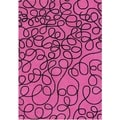 Alliyah Handmade New Zealand Blend Wool Pink Lemonade Rug (5' x 8')