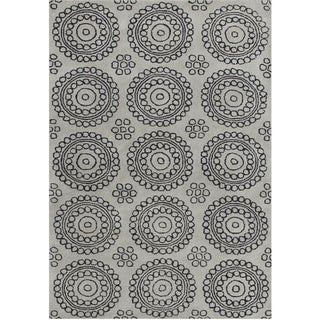 Alliyah Handmade New Zealand Blend Wool Grey Rug (5' x 8')